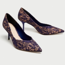 ZARA: Zapato de encaje