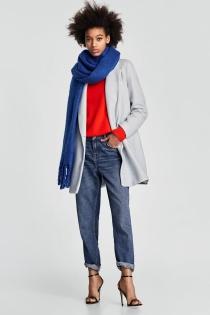 Look casual con este abrigo de ZARA