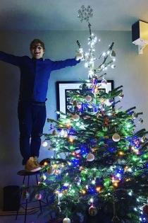 Ed Sheeran y el árbol de Navidad más mágico