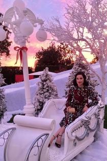 El espíritu navideño de Dita Von Teese