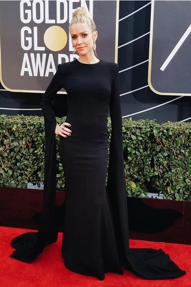 Globos de Oro 2018: El elegante vestido negro de Kristin Cavallari