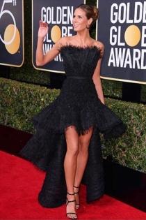 Globos de Oro 2018: Heidi Klum se suma al color negro
