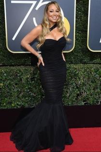 Globos de Oro 2018: Mariah Carey también se decanta por el negro