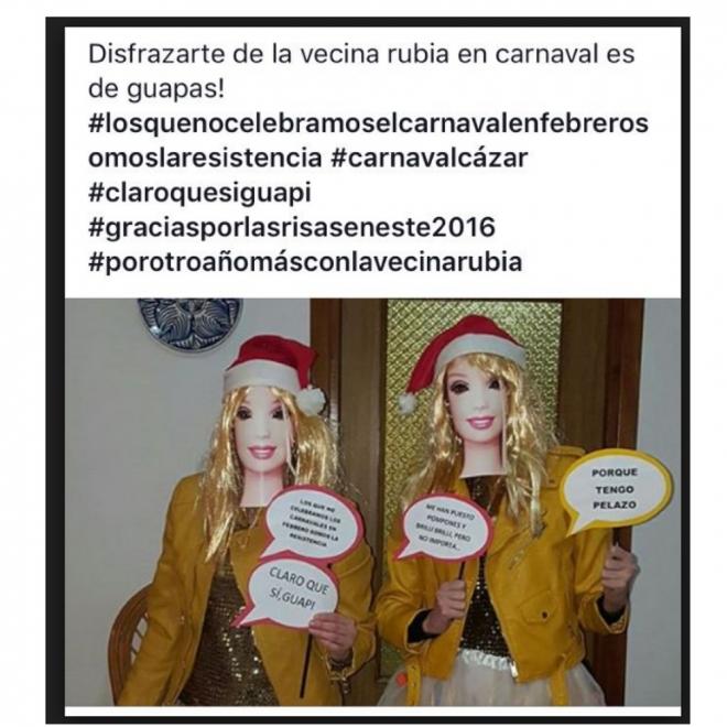 Disfraces de Carnaval en grupo: La Vecina Rubia