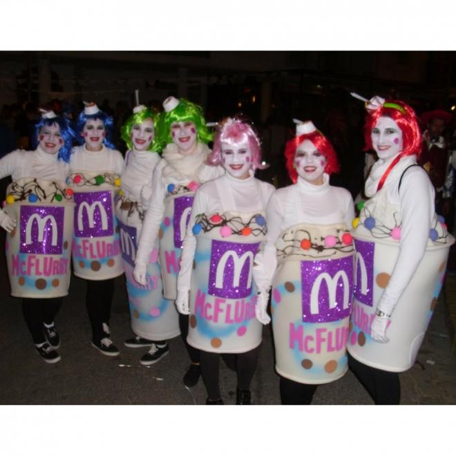 Disfraces de carnaval en grupo: Mc Flurry de McDonalds