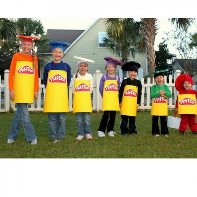Disfraces de carnaval en grupo: Plastilina Play-Doh