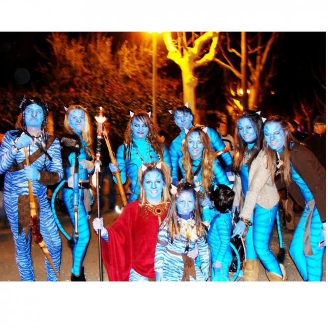 Disfraces de carnaval en grupo: Avatar