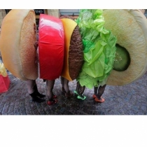Disfraces de carnaval en grupo: Hamburguesa