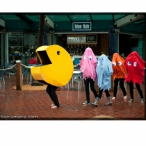 Disfraces de carnaval en grupo: Pacman