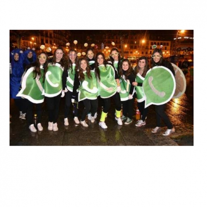 Disfraces de carnaval en grupo: Disfraz de whatsapp