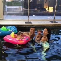 Cristiano Ronaldo, Georgina Rodríguez y los mellizos