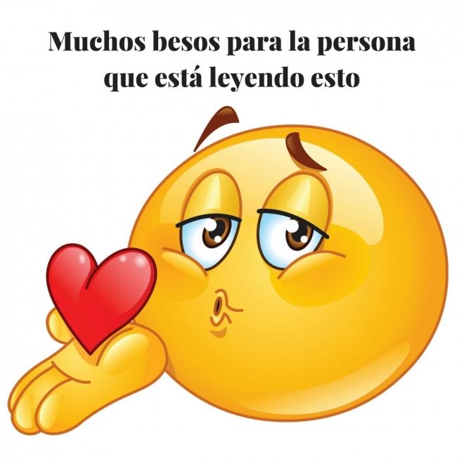 Frase De Amor Con Emoticono Besos Por Whatsapp