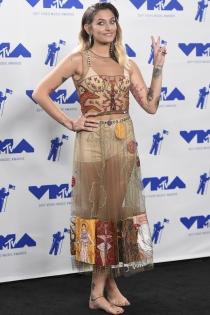 Paris Jackson se suma a la tendencia de los vestidos transparentes