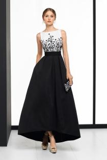 Binomio blanco y negro para un vestido de boda