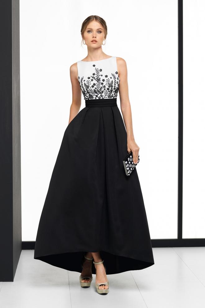 Vestido blanco negro boda
