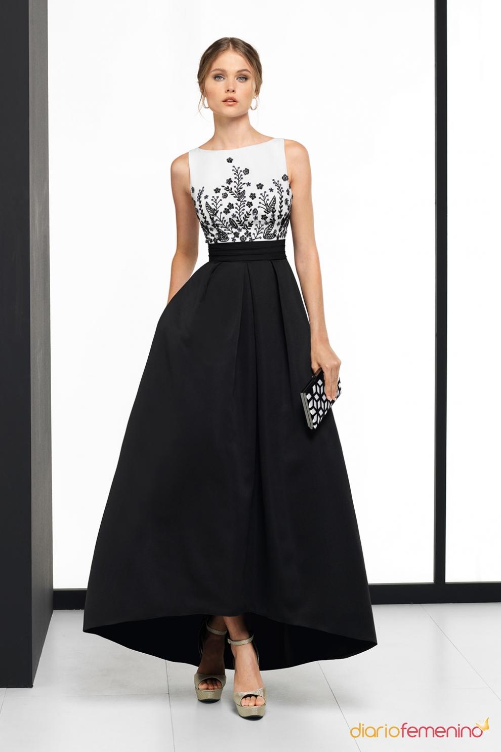 Binomio blanco y negro para un vestido de boda - Moda para boda ...