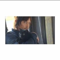 Gatos de famosos: Eye in the dark, el bonito felino de Norman Reedus