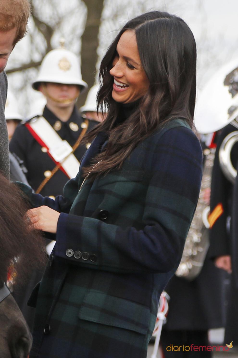 El abrigo más escocés de Meghan Markle