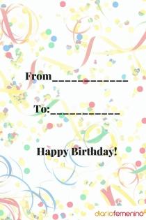 Felicitación e invitación de cumpleaños para Acuario