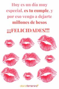 Tarjeta de felicitación para Virgo: ¡Un cumpleaños lleno de besos!