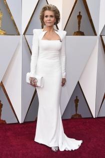 Jane Fonda, elegante a sus 81 años en los Oscars 2018