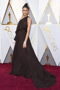 Zendaya, de las mejores vestidas en los Oscars 2018