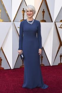 La sobriedad del look de Helen Mirren para los Oscars 2018