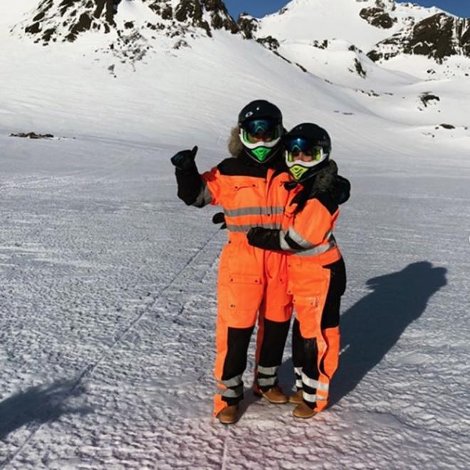 Cristiano Ronaldo y Georgina Rodríguez, amor en la nieve