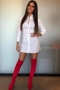 Las botas de Cristina Pedroche: altas, rojas y con punta