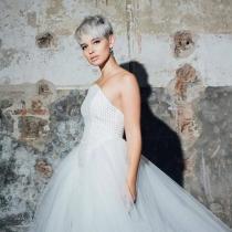 Laura Escanes con vestido de novia