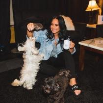 Los perros de Demi Lovato se llaman Batman y Cinderella