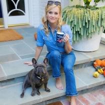 Te presentamos a Pepper, el bulldog francés de Reese Witherspoon