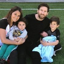 Messi, Antonella Rocuzzo y sus tres hijos: Una familia feliz