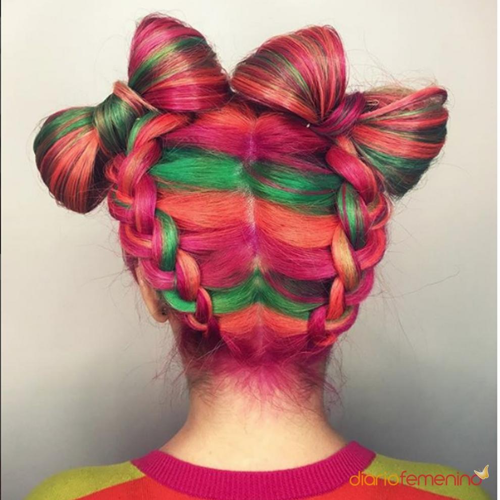 Viva el color en tu corte de pelo