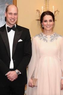 El príncipe Guillermo y Kate Middleton se visten de gala