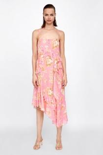 Vestido de verano con corte asimétrico de ZARA