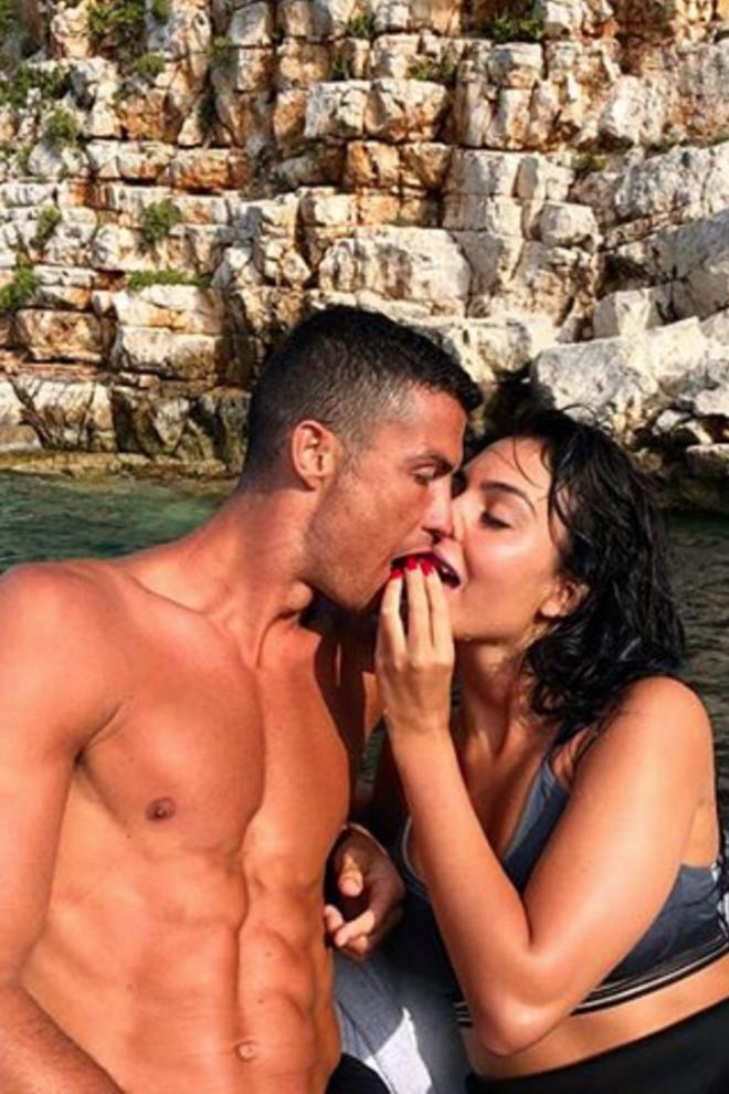 El beso más apasionado de Georgina y Cristiano Ronaldo