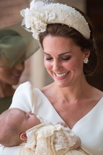 La diadema de Kate Middleton en el bautizo de su hijo Louis