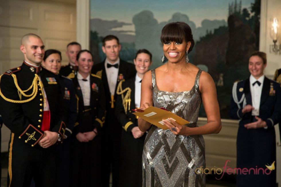 Michelle Obama, de plateado para los Oscar