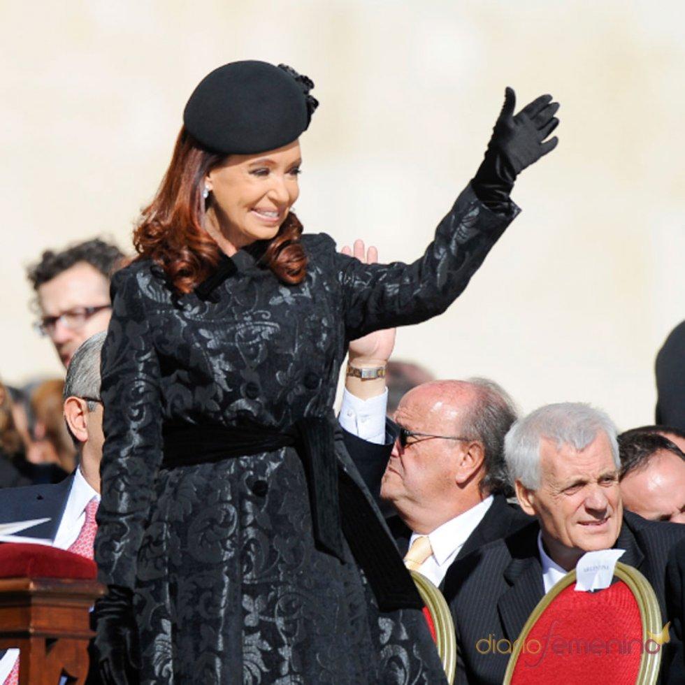 La otra estrella junto a Letizia: Cristina Fernández y el Papa Francisco