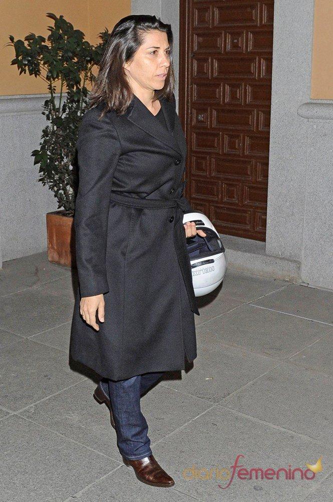 Alicia Borrachero en el funeral de Pepe Sancho en Madrid