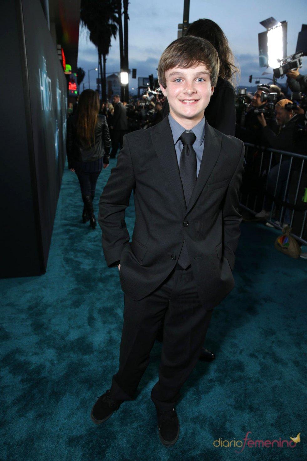 Chandler Canterbury en el estreno de 'The Host' en Los Ángeles