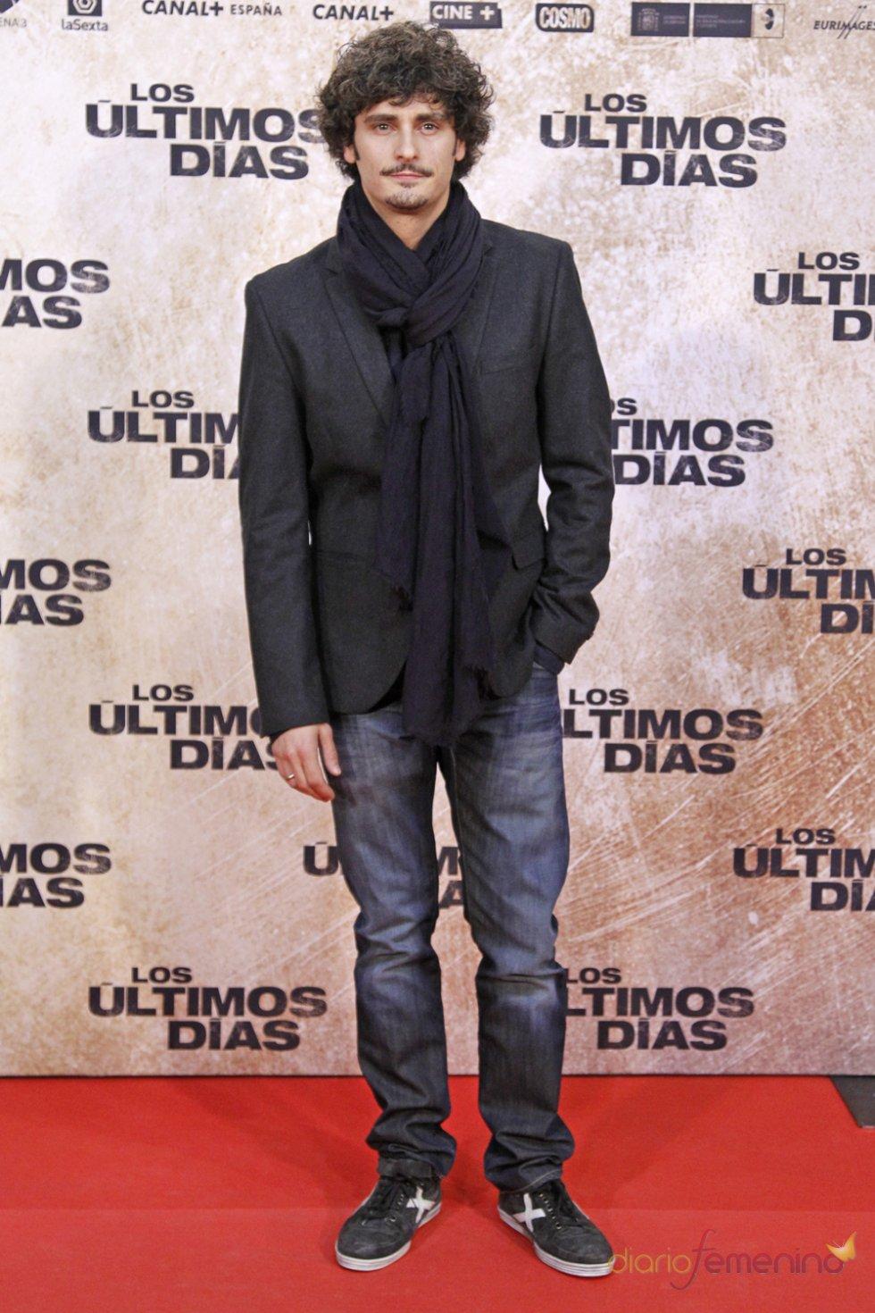 El actor Antonio Pagudo en la premiere de 'Los últimos días'