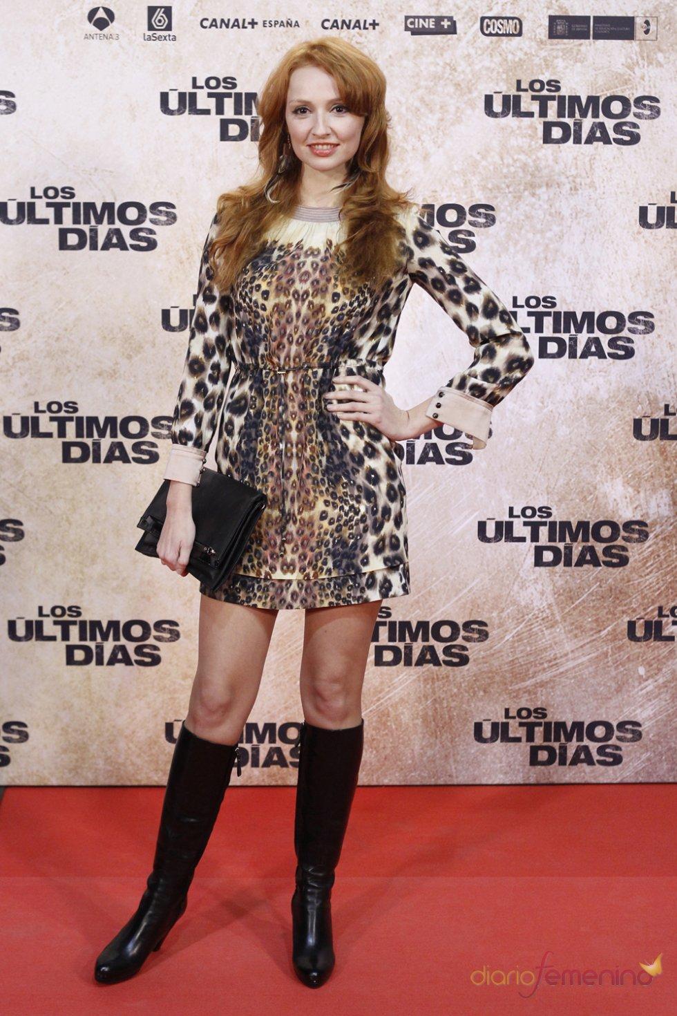 La actriz Cristina Castaño en la premiere de 'Los últimos días'