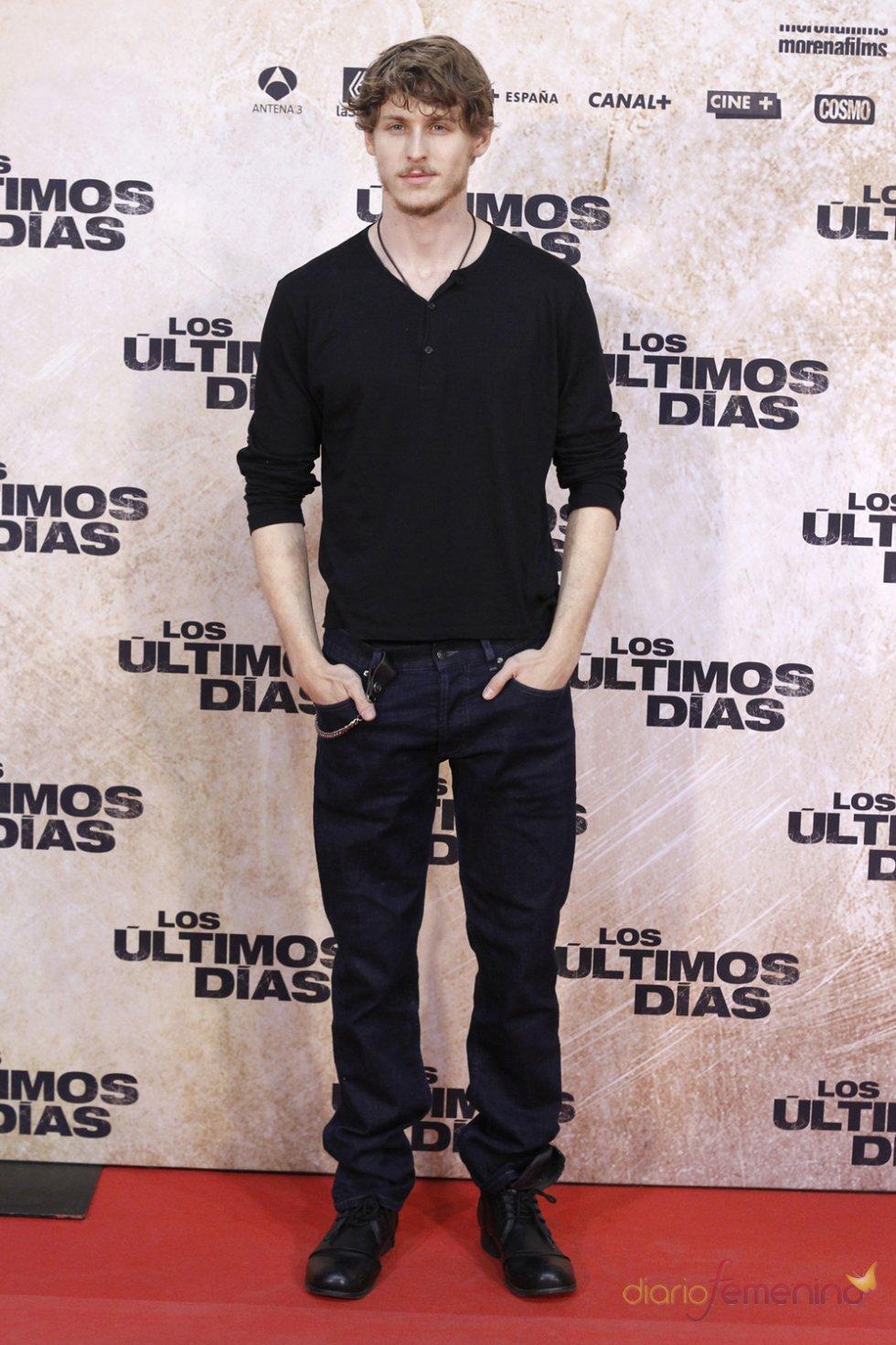 El actor Nicolás Coronado en la premiere de 'Los últimos días'