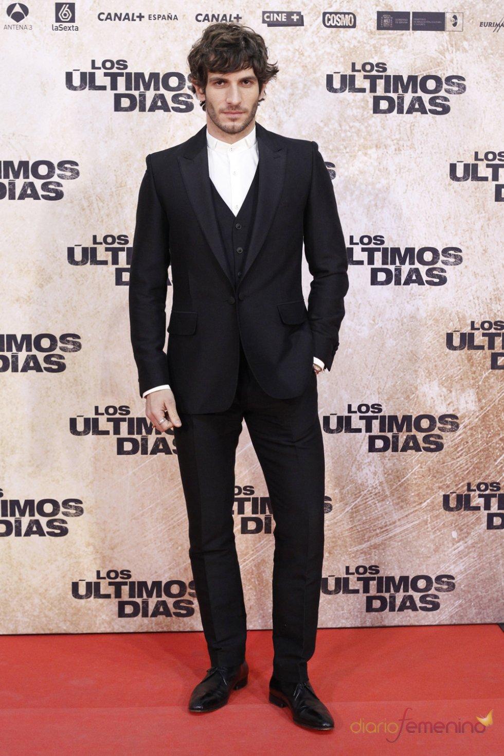 El actor Quim Gutiérrez en la premiere de 'Los últimos días'