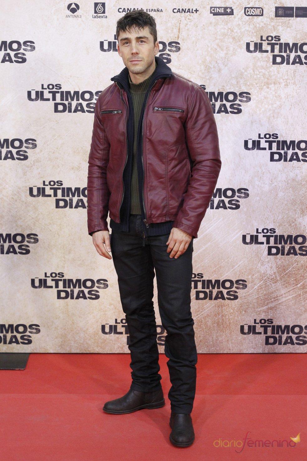 El actor Rubén Sanz en la premiere de 'Los últimos días'
