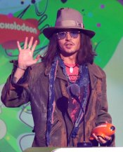 Johnny Depp en los Kids' Choice Awards 2013