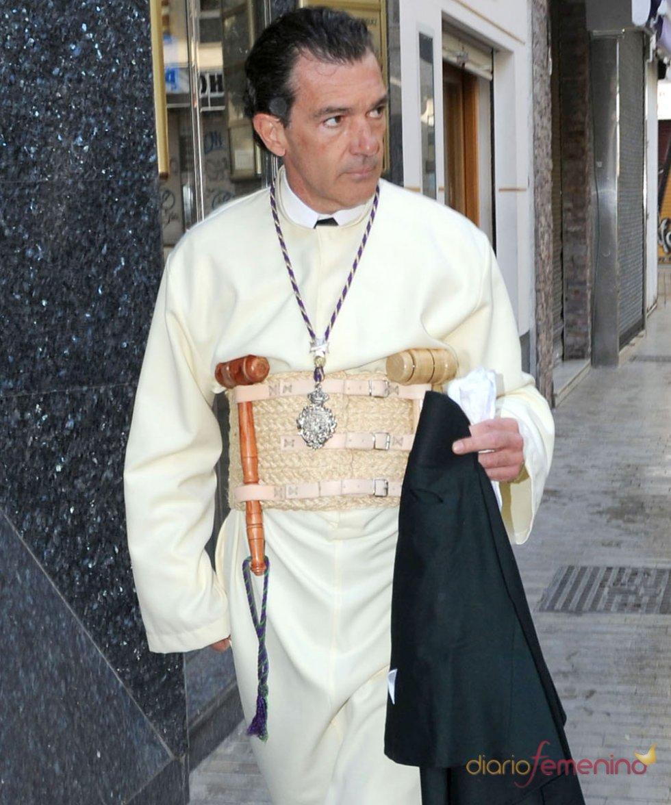 Famosos en Semana Santa 2013: Antonio Banderas, hermano de las Cofradías Fusionadas