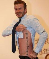 David Beckham y su tatuaje a China